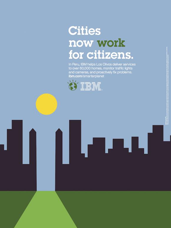 Negative space art / design / illustrations / ads - IBM: Smarter Planet (9)