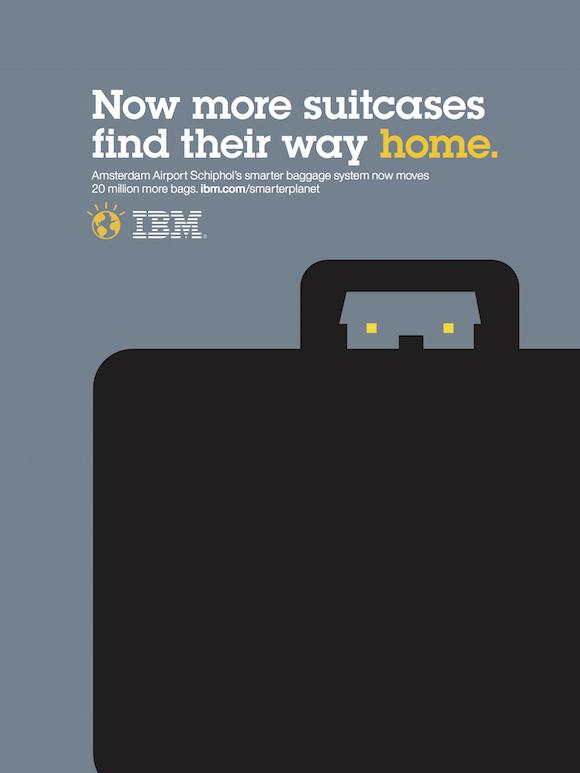 Negative space art / design / illustrations / ads - IBM: Smarter Planet (10)