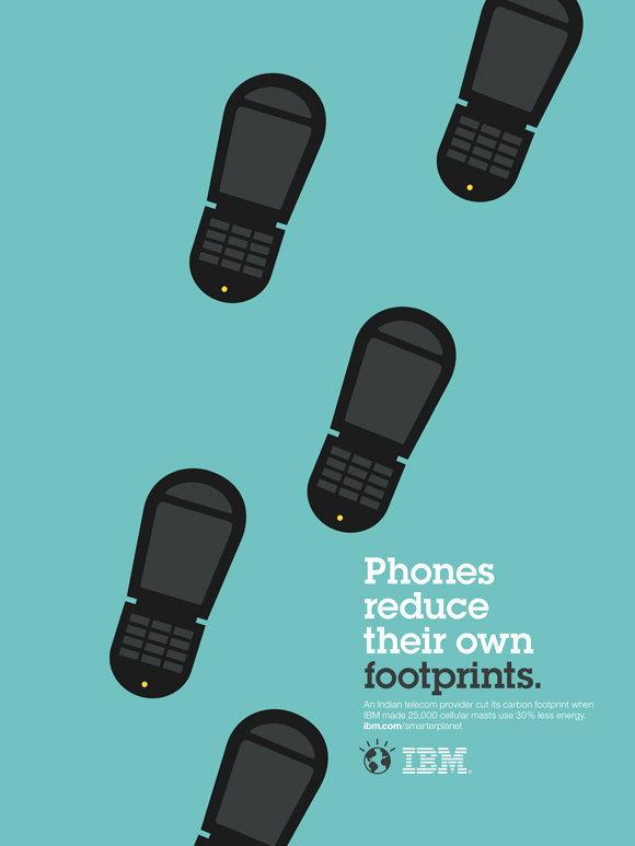 Negative space art / design / illustrations / ads - IBM: Smarter Planet (11)