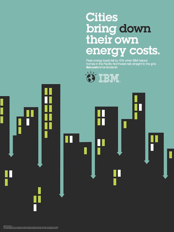 Negative space art / design / illustrations / ads - IBM: Smarter Planet (12)