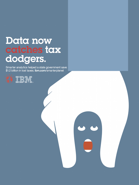 Negative space art / design / illustrations / ads - IBM: Smarter Planet (13)