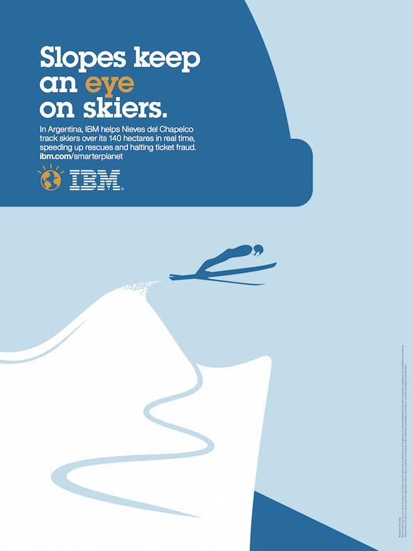 Negative space art / design / illustrations / ads - IBM: Smarter Planet (14)