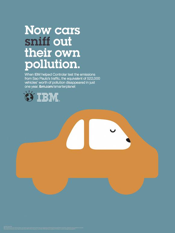 Negative space art / design / illustrations / ads - IBM: Smarter Planet (15)