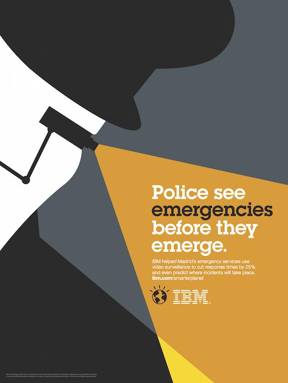 Negative space art / design / illustrations / ads - IBM: Smarter Planet (18)