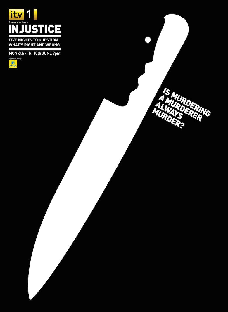 Negative space art / design / illustrations / ads - ITV: Injustice (1)