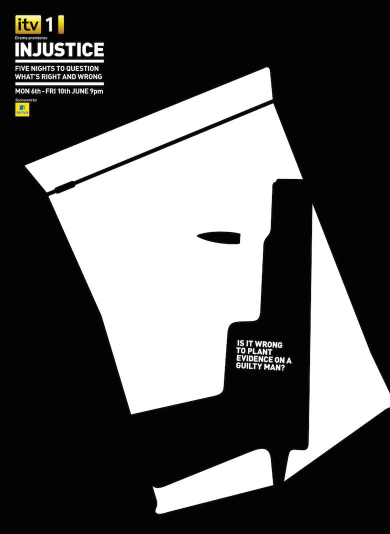 Negative space art / design / illustrations / ads - ITV: Injustice (5)