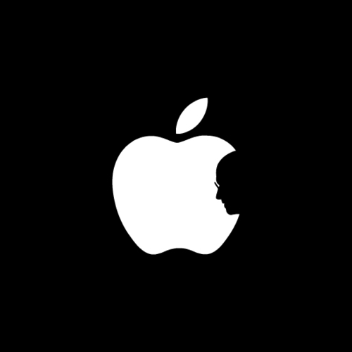 Negative space art / design / illustrations / ads - Tribute to Steve Jobs