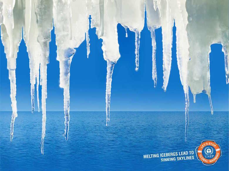 Negative space art / design / illustrations / ads - UNEP: Skyline