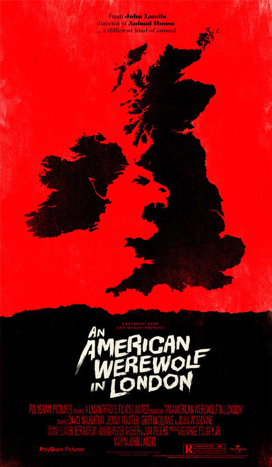 Negative space art / design / illustrations / ads - An American Werewolf In London