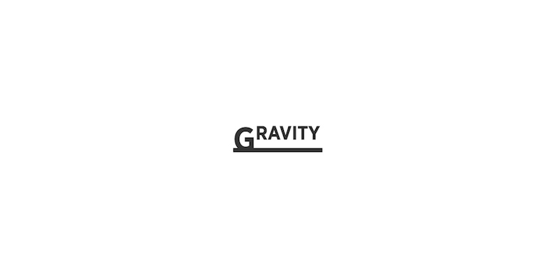 Typographic movie names/titles/logos - Gravity