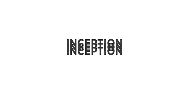 Typographic movie names/titles/logos - Inception