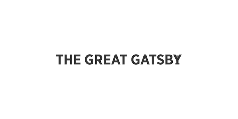 Typographic movie names/titles/logos - The Great Gatsby