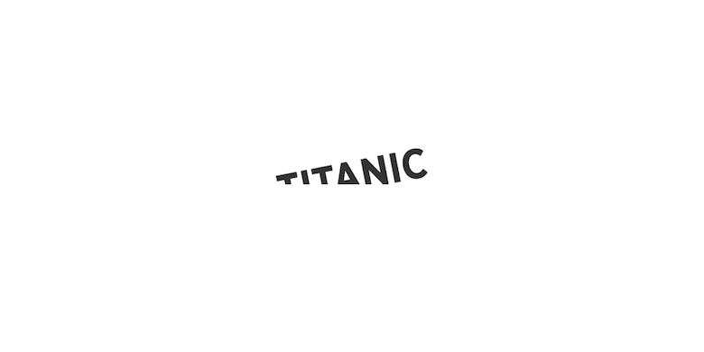 Typographic movie names/titles/logos - Titanic