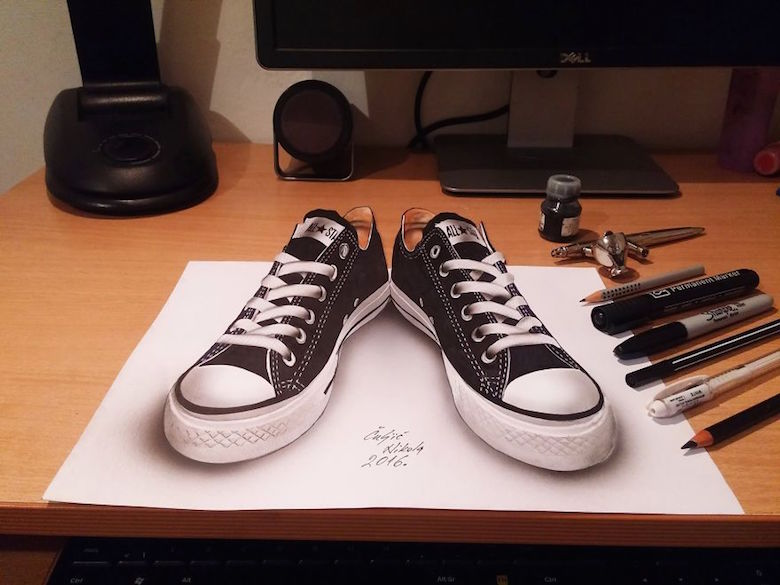 Realistic drawings that look like 3D objects / Optical illusion art - 1