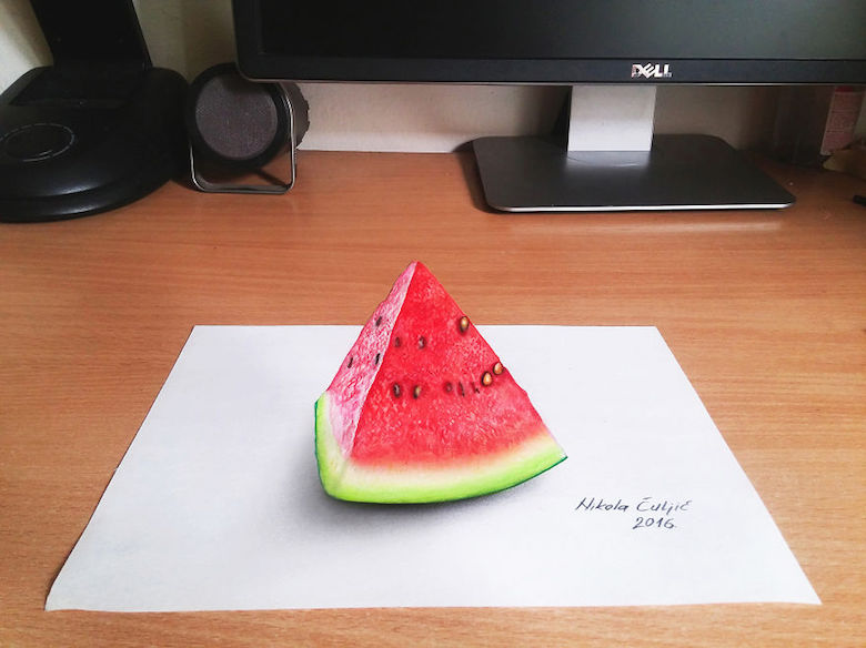 Realistic drawings that look like 3D objects / Optical illusion art - 2