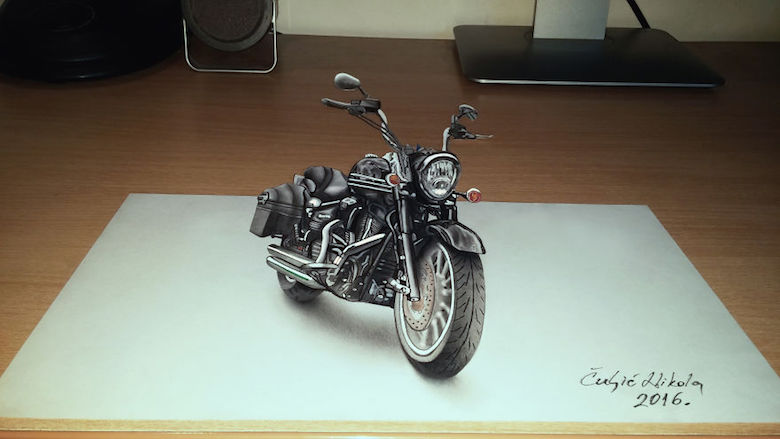 Realistic drawings that look like 3D objects / Optical illusion art - 3