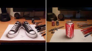 Amazing Drawings That Look Like 3D Objects From A Certain Angle