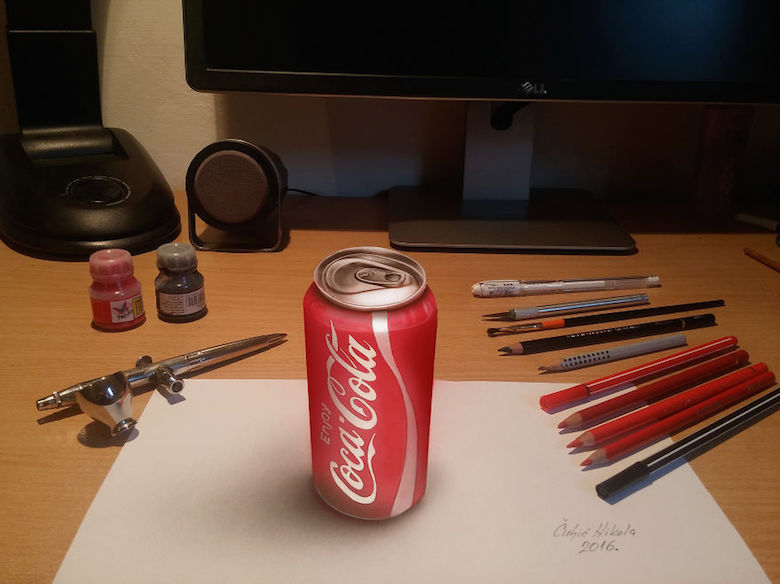Realistic drawings that look like 3D objects / Optical illusion art - 4