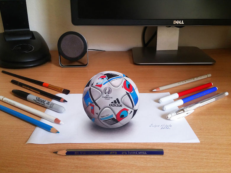 Realistic drawings that look like 3D objects / Optical illusion art - 7