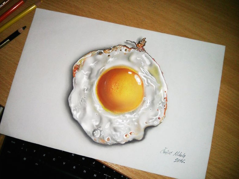 Realistic drawings that look like 3D objects / Optical illusion art - 8