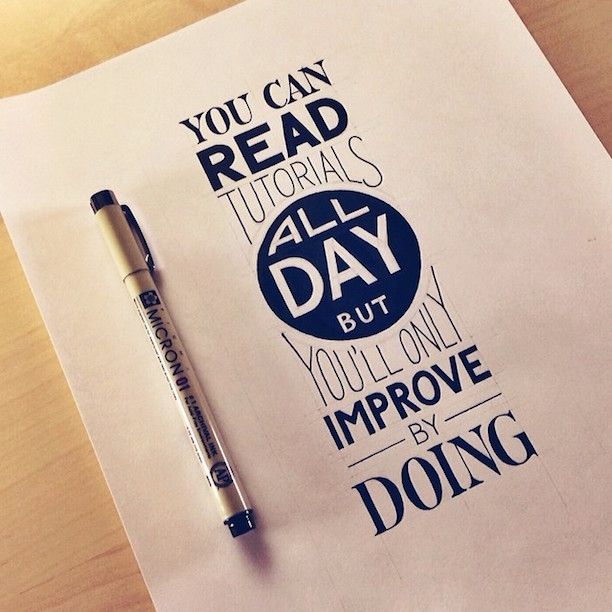 Beautiful, inspiring hand-lettered tips for creatives - 1