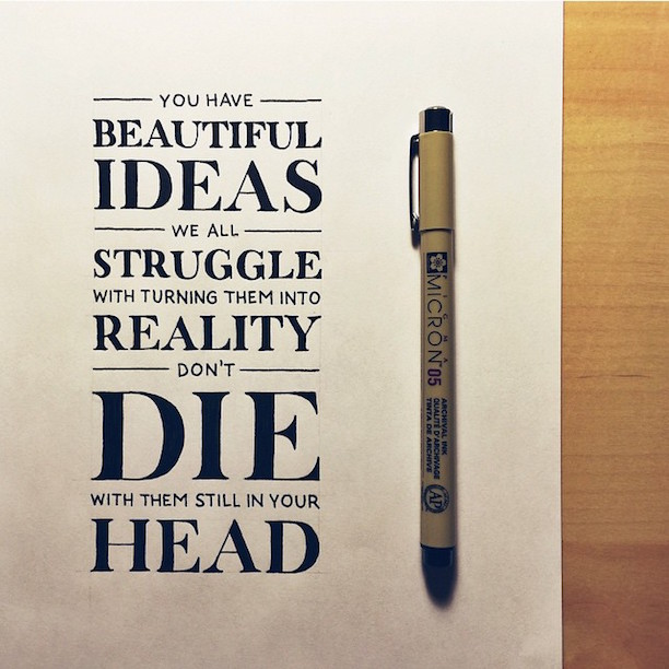 Beautiful, inspiring hand-lettered tips for creatives - 12