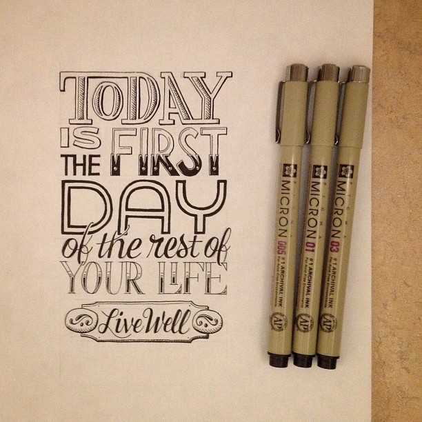 Beautiful, inspiring hand-lettered tips for creatives - 24