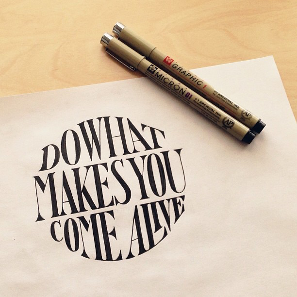 Beautiful, inspiring hand-lettered tips for creatives - 8