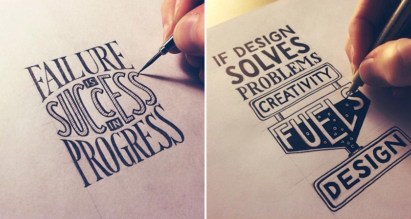 beautiful inspiring hand lettered tips for creatives. Black Bedroom Furniture Sets. Home Design Ideas