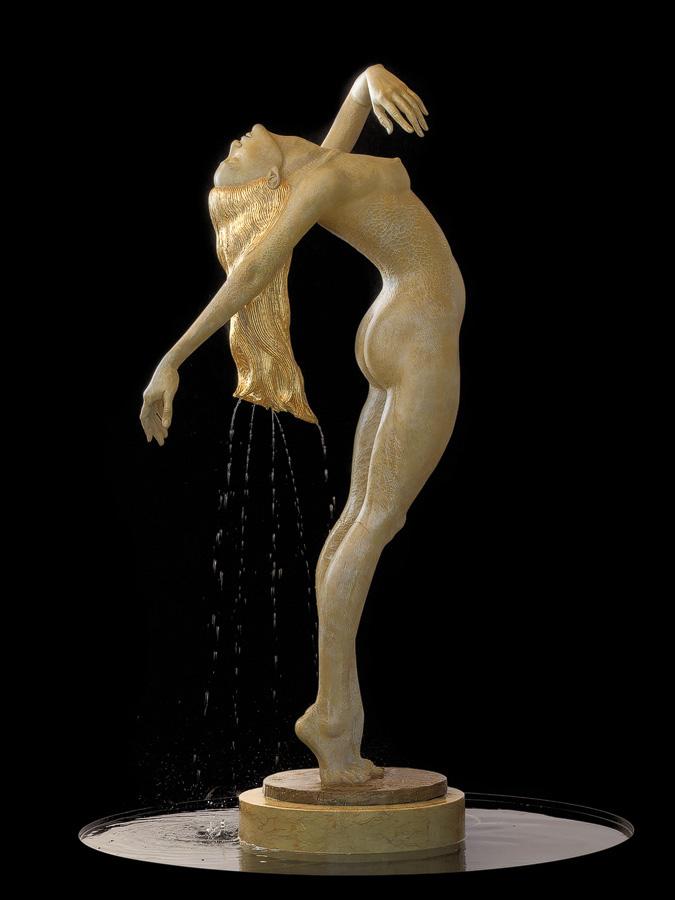 Bronze water fountain sculptures by Malgorzata Chodakowska (7)