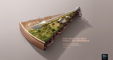 How Cool Is The Art Direction In These Ads For Earth Hour?