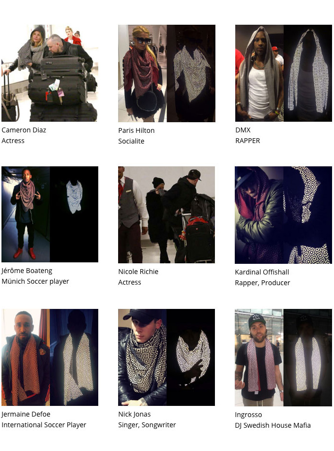 ISHU anti-flash, anti-paparazzi scarf - Celebrities