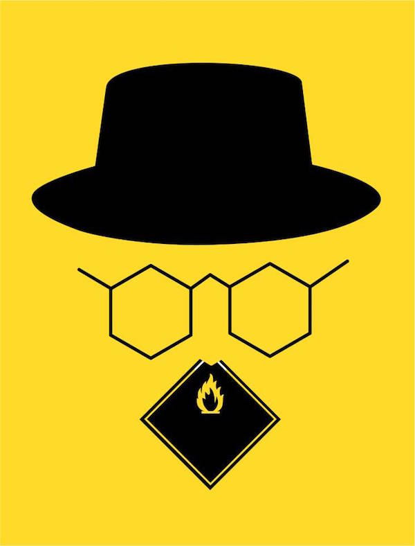 Negative Space Art - Breaking Bad