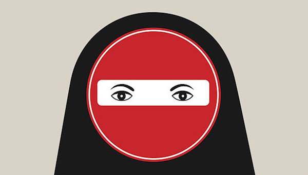Negative Space Art - Burkha ban