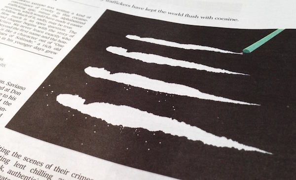 Negative Space Art - Cocaine