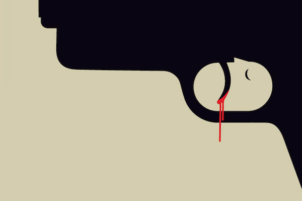 Negative Space Art - Gun crime