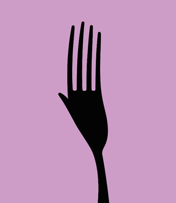 Negative Space Art - Hunger