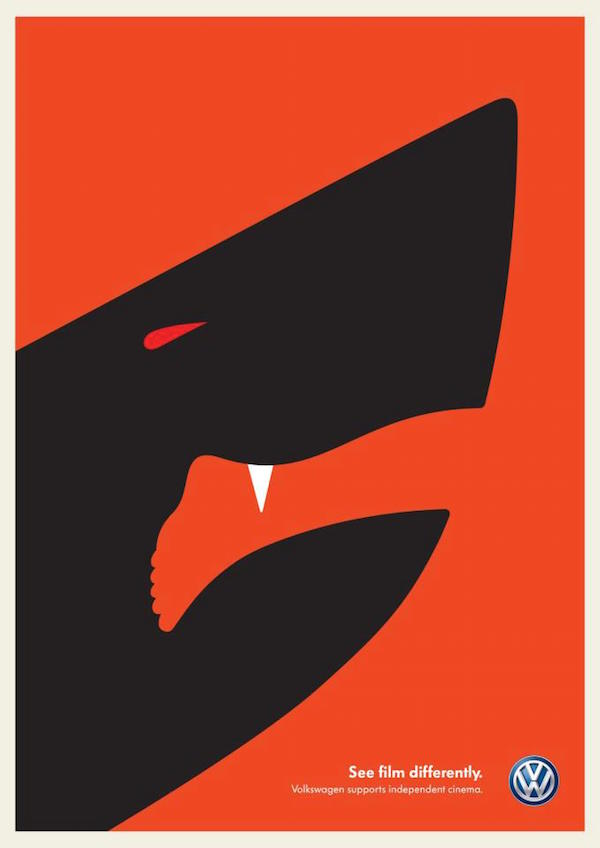 Negative Space Art - Jaws