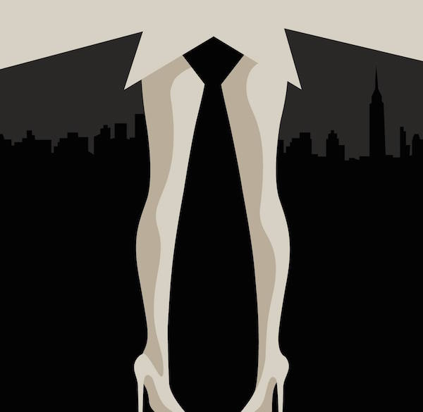 Negative Space Art - Mad Men