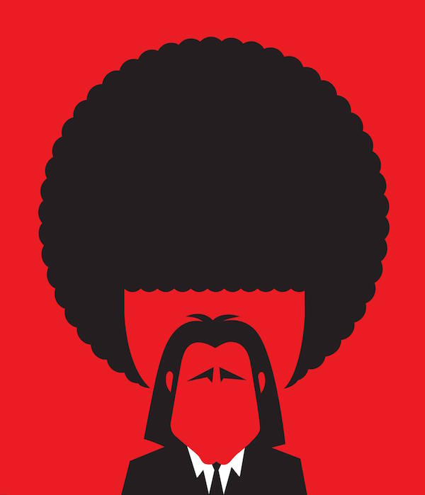 Negative Space Art - Pulp Fiction