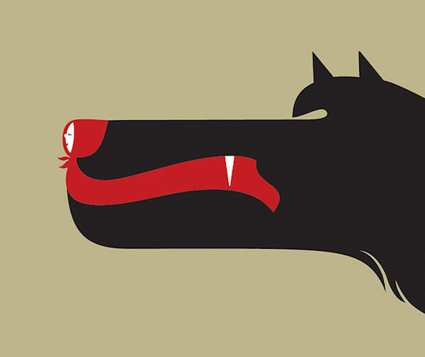 Negative Space Art - Red Riding Hood