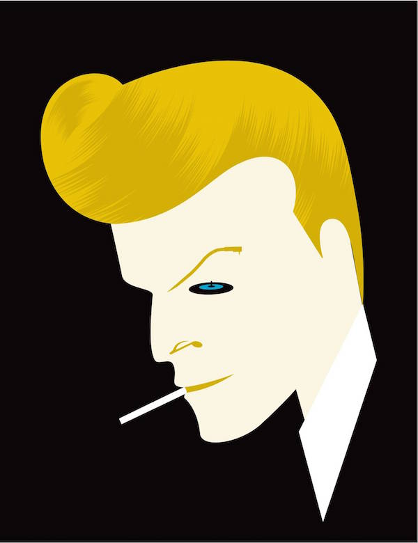 Negative Space Art - RIP David Bowie