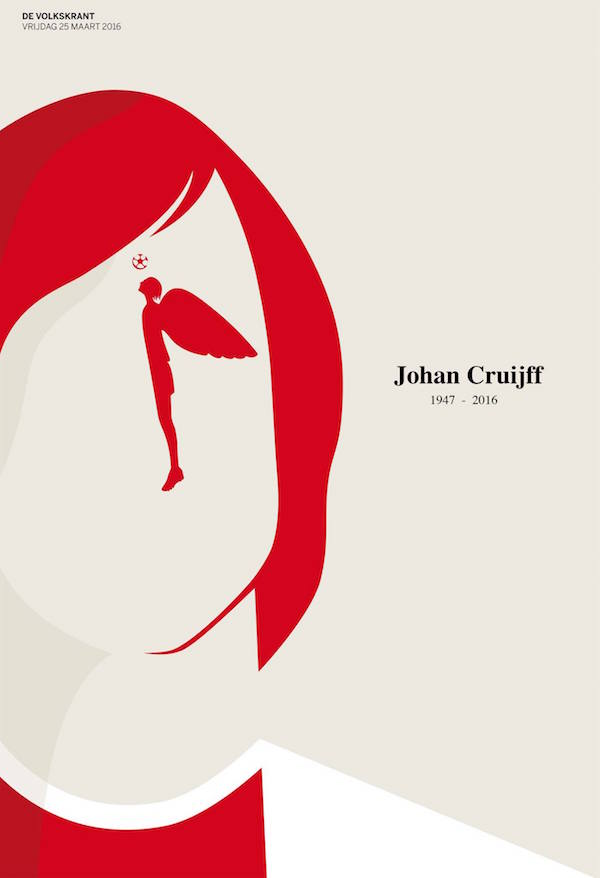 Negative Space Art - RIP Johan Cruyff