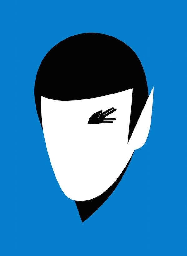 Negative Space Art - RIP Leonard Nimoy