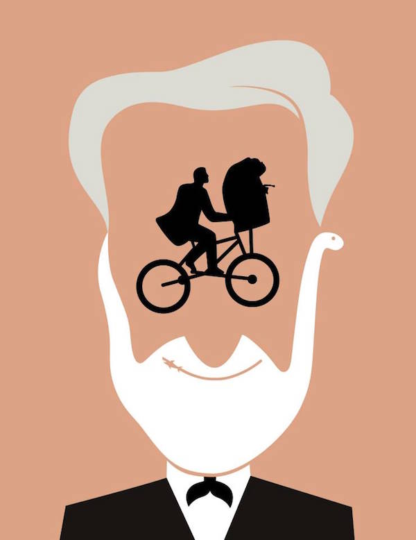 Negative Space Art - Steven Spielberg