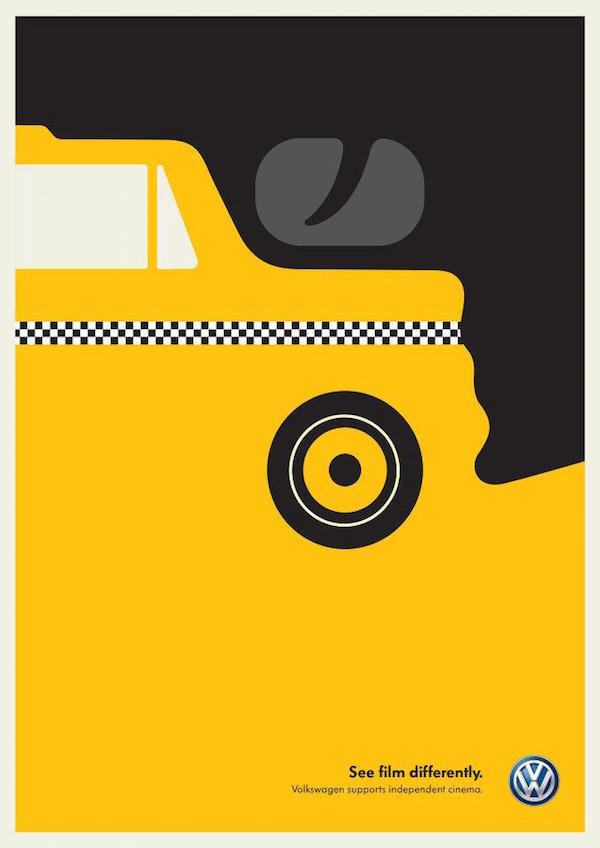 Negative Space Art - Taxi Driver