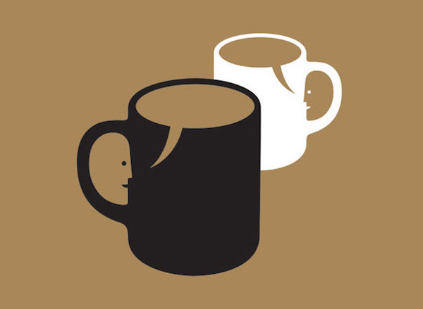 Negative Space Art - Tea for two