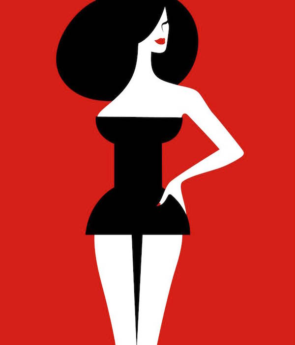 Negative Space Art - Pin-up girl