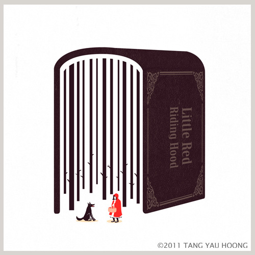 Negative space art illustrations by Tang Yau Hoong - 14