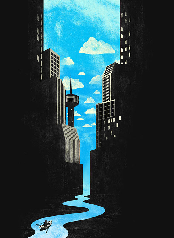 Negative space art illustrations by Tang Yau Hoong - 21